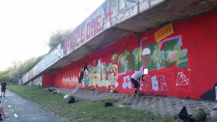 Loop Grafficon Graffiti Jam - průběh