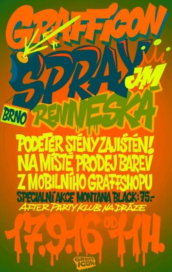 Grafficon Spray Jam - 17. 9. 2016 Brno - Renneská