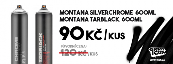 Montana SILVERCHROME 600ml & Montana TARBLACK 600ml - AKCE
