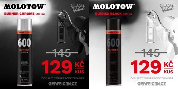 Akční sleva na Molotow BURNER 600ml!