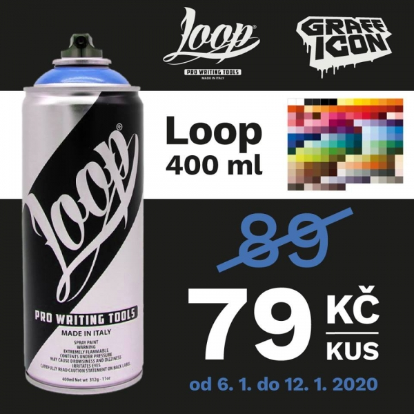 Loop 400ml za 79,-/ks!