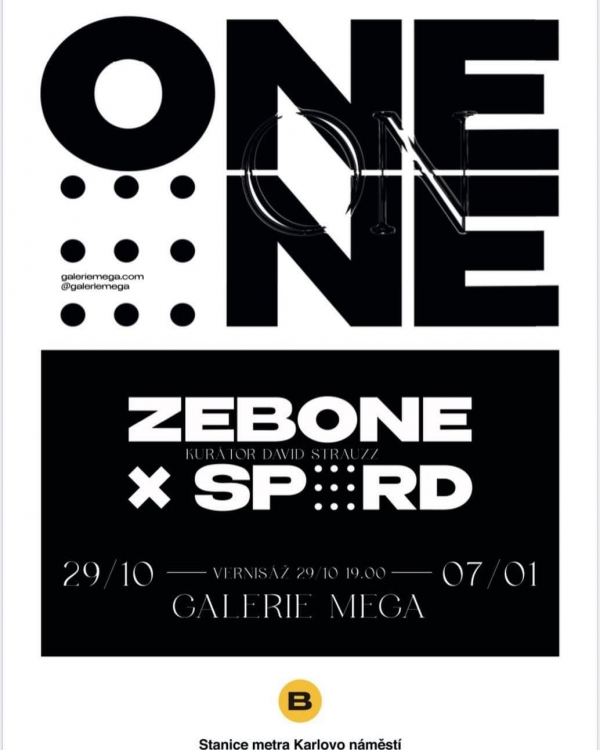 "Vernisáž / Vernissage ZEBONE / SPORD ""ONE ON ONE"" - Pozvánka"