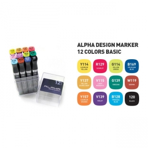 Alpha Design Marker 12A Colors set