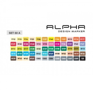 Alpha Design Marker 60A Colors set