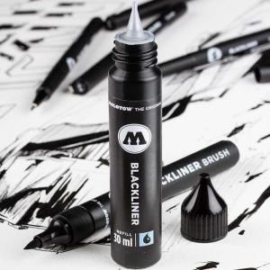 Molotow Blackliner Brush Marker+Refill