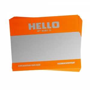 Montana Hello My Name is... Neon stickers