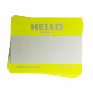 Montana Hello My Name is... Neon stickers