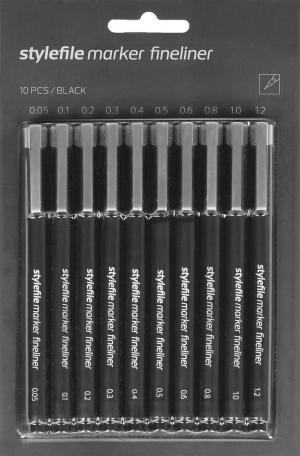 Stylefile Marker Fineliner set 10ks