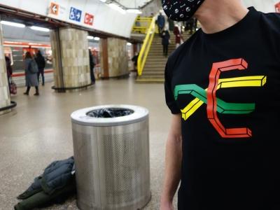 Grafficon T-shirt - Praha Metro Map vol.2