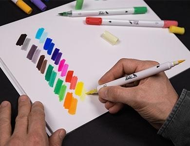 TOKI Twin-colour marker Set 1 - 12ks