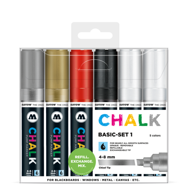 MOLOTOW™ Chalk Marker 4 - 8mm Basic Set 1