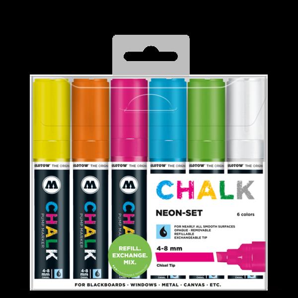 MOLOTOW™ Chalk Marker 4 - 8mm Neon Set