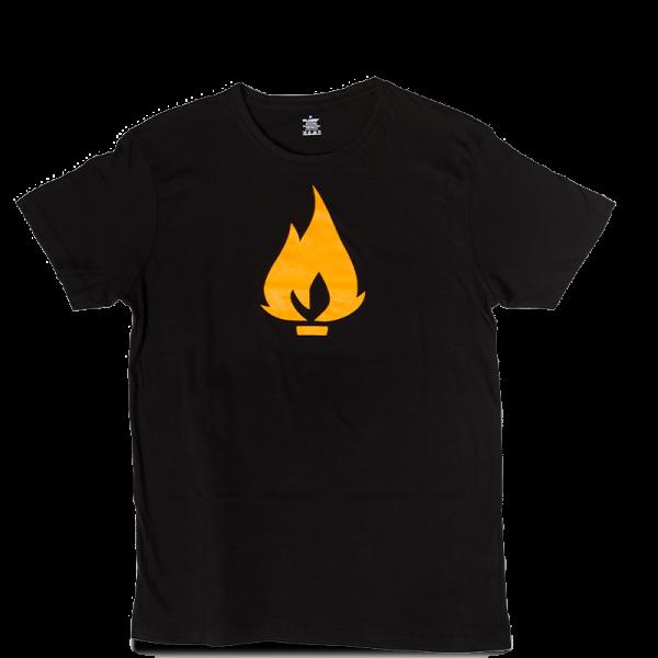 Flame triko černé