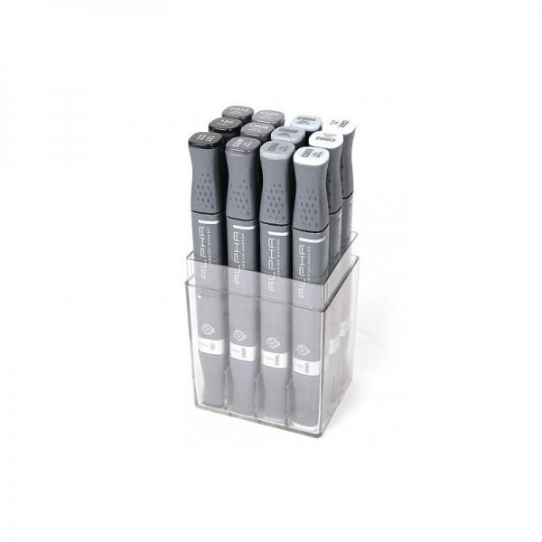 Alpha Design Marker šedé sety - 12ks