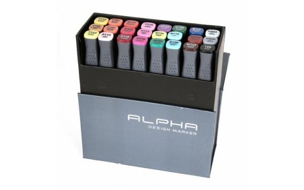 Alpha Design Marker 24ER Colors set