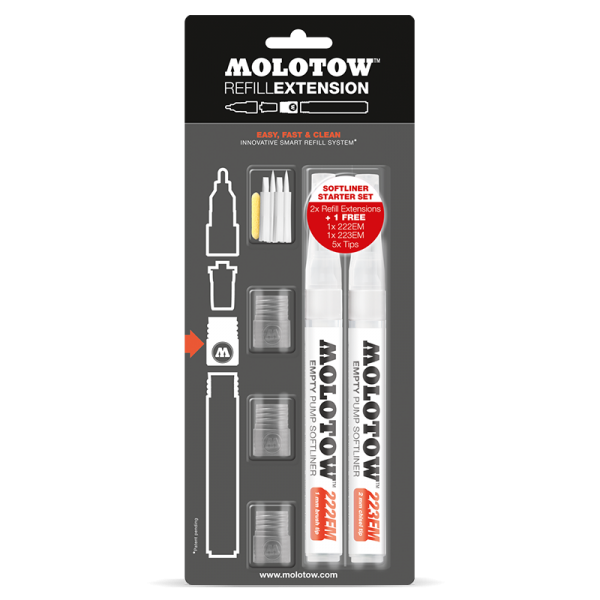 Molotow Refill Extension Softliner Starter Kit