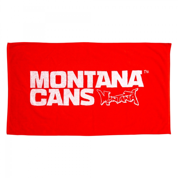 Montana Beach Towel typo+logo (Red and Green)