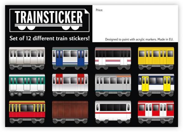 Underpressure Train set A4 - 12 Stickers