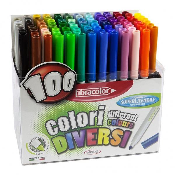Fibracolor Markers - set 100ks