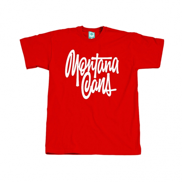 Montana Cans T-Shirt TAG by Shapiro (Red and Blue)