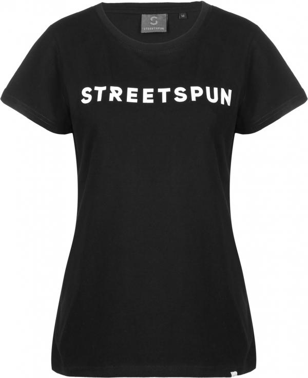 streetspun Rubber Logo T-shirt Black - dámské