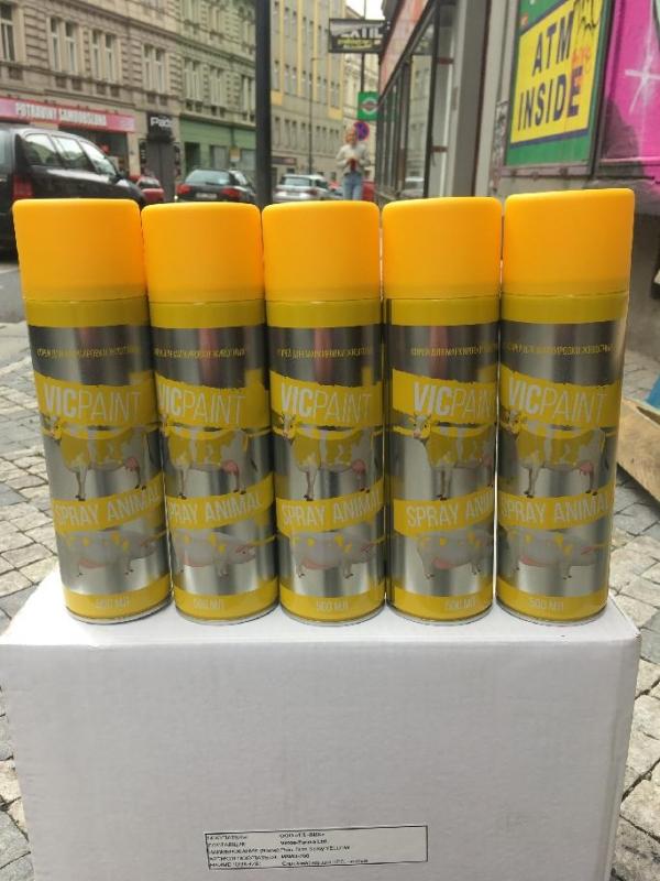 Vic Paint 500ml - značkovací sprej na zvěř - 5 kusů