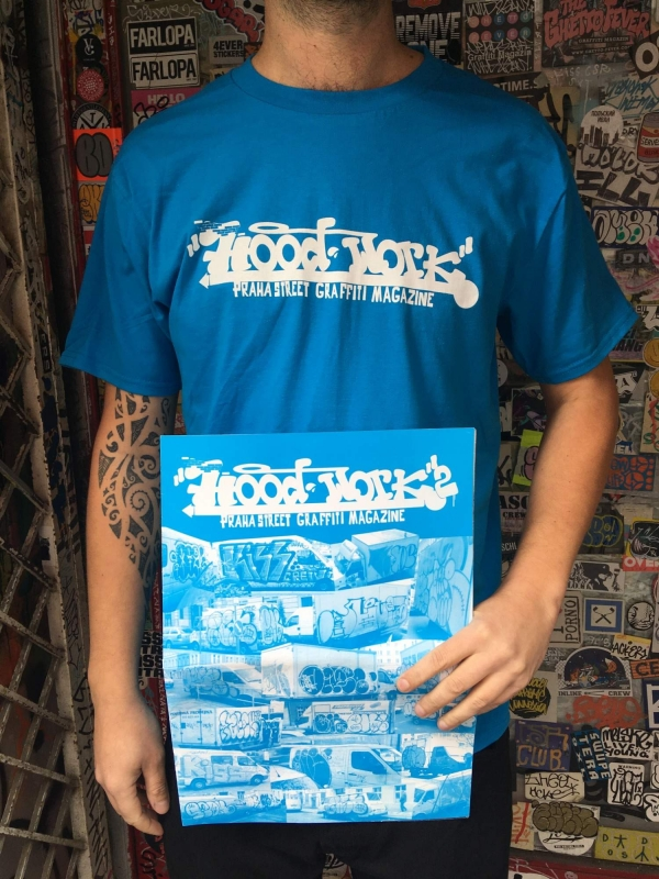 Hoodwork triko - modré