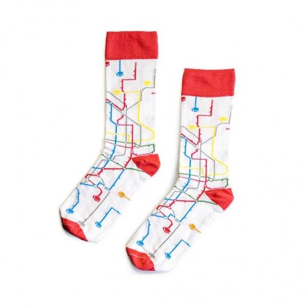 MTN Socks White Metro - Ponožky
