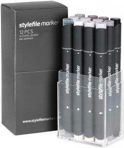 Stylefile 12er marker Warm Grey Set