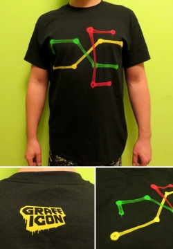Grafficon t-shirt - Praha Metro Map