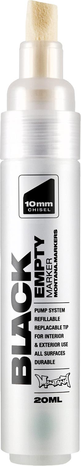 Motana Black Empty Marker 10mm Chisel