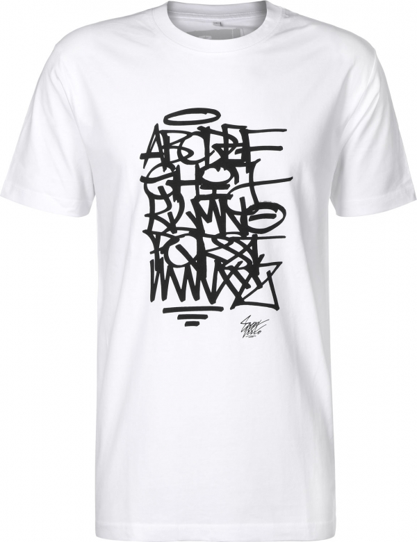 Eight Miles High ABC T-shirt White