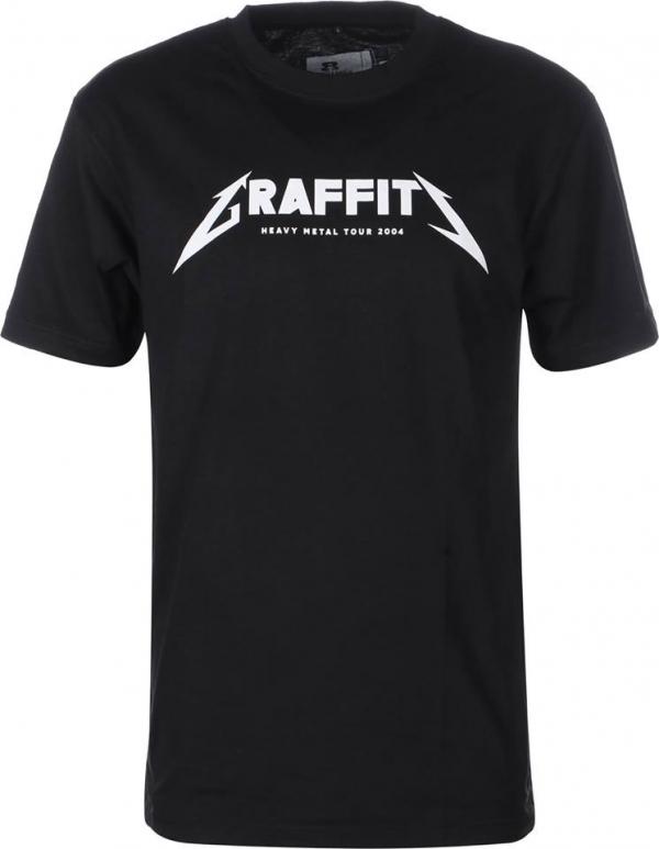 Eight Miles High Graffiti T-Shirt Black