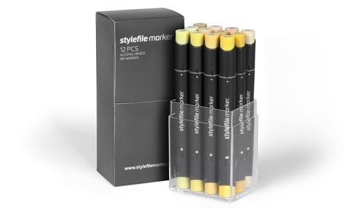Stylefile 12er marker Desert set