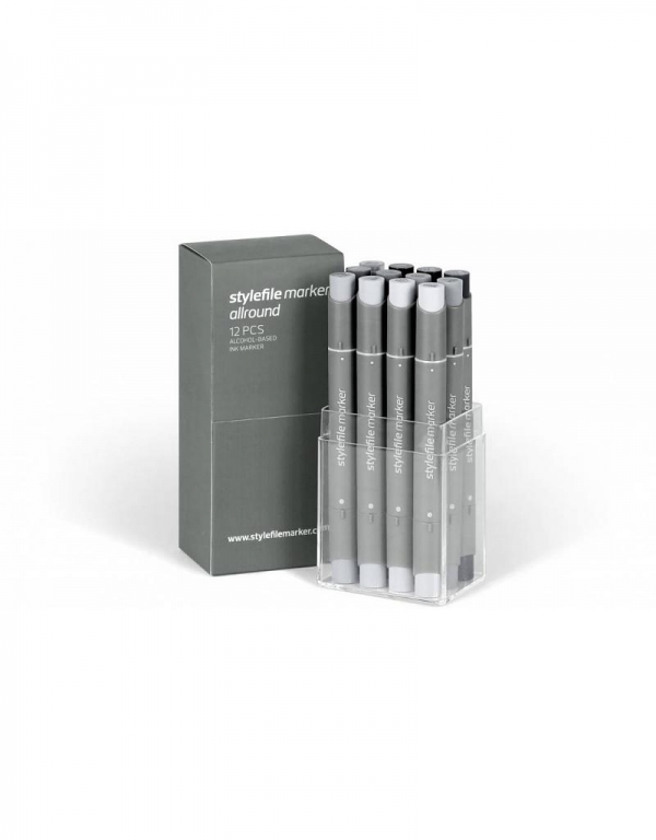 Stylefile Marker Allround 12er Set - neutral grey