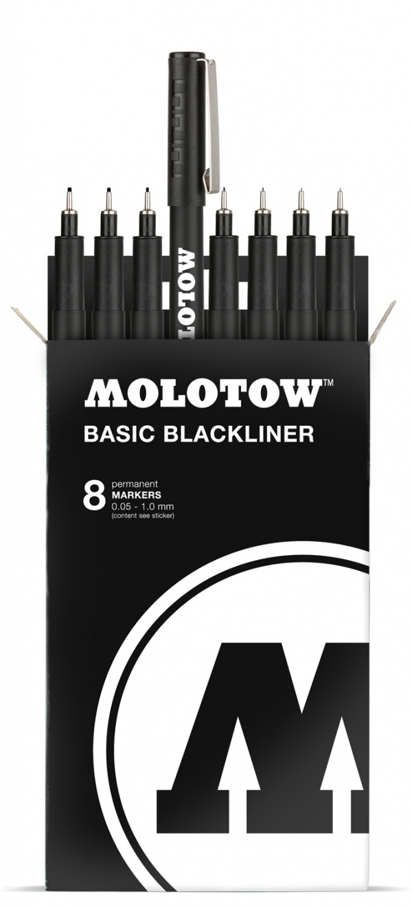 Molotow Basic Blackliner set