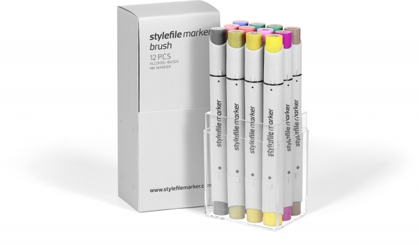 Stylefile marker Brush set 12ks Multi-1