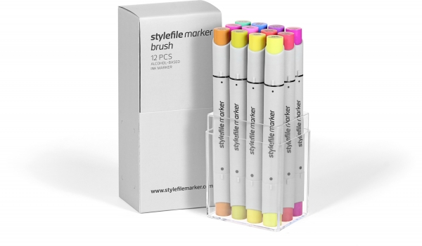 Stylefile marker Brush set 12ks Multi-2