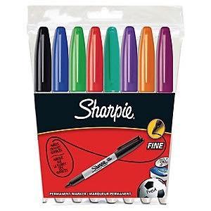 Sharpie Fine Set 8ks